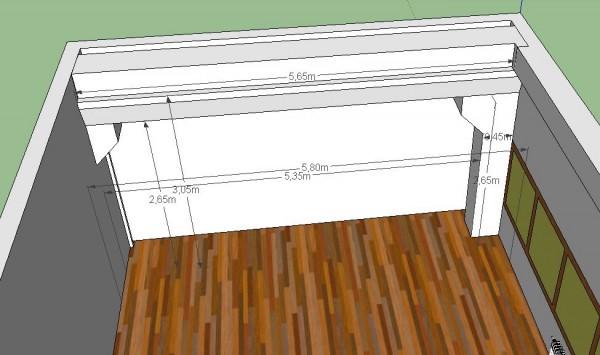3d модель левой стены