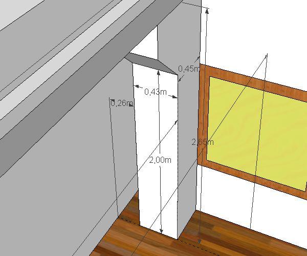 3D модель колонны левой стены