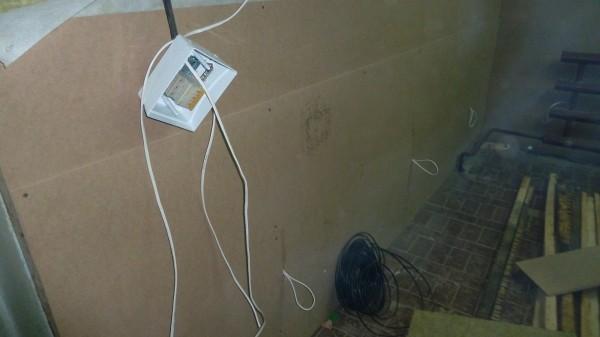Протянули электричество от распределительного щитка