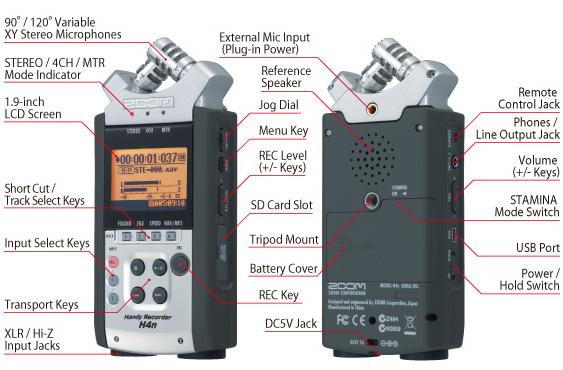 Цифровой аудио рекордер Zoom H4n